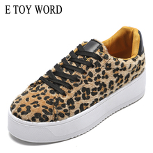 E TOY WORD Leopard Sneakers platform Women Shoes 2019 Fashion Spring Chunky Ladies Casual shoes Womens