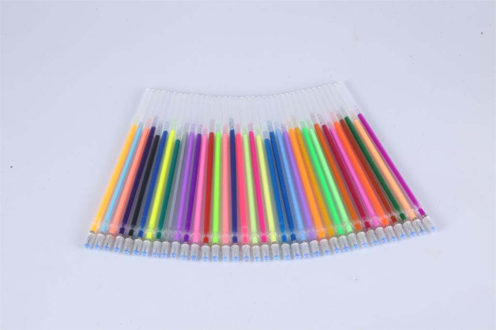 New 48 Pcs/set 48 Colors Gel Pen Refill Multi Colored Painting Gel Ink Ballpoint Pens Refills Rod For Handle School Stationery