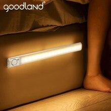 Goodland – veilleuse murale 160 LED avec capteur de mouvement, Rechargeable par USB, pour enfants, chambre à coucher, armoire de cuisine