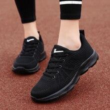 Zapatos Deportivos informales para mujer, zapatillas deportivas para correr de talla grande, zapatillas informales para mujer con tejido volador, zapatillas informales transpirables, zapatillas para caminar
