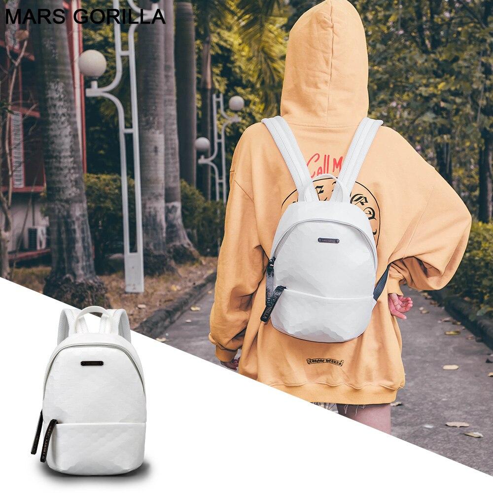 Women Backpacks PU Small Mni Travel Sport Knapsack Lattice 2020 New Fashion Design Stylish Casual Red Leather Backpack