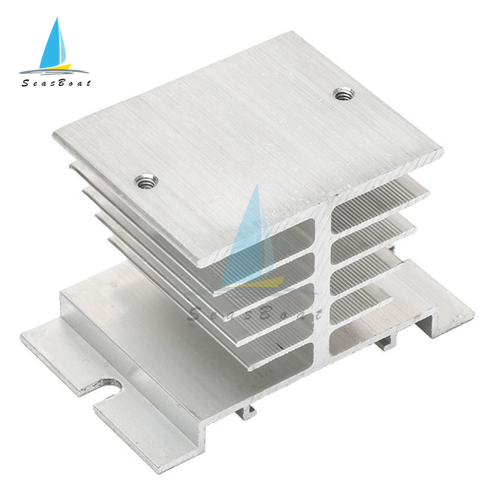 Single Phase Solid State Relay SSR Aluminum Heat Sink Dissipation Radiator Heatsinks Suitable For 10A-25A Relay Module