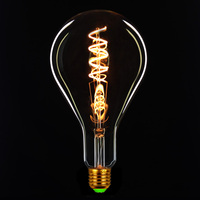 TIANFAN Edison Bulbs A130/PS42 Led Bulb Vintage Spiral Filament 4W Dimmable Decorative Light Bulb