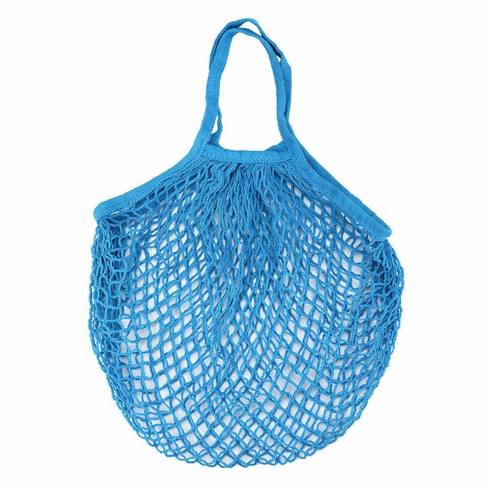 ตาข่ายสุทธิเต่ากระเป๋าสตริงกระเป๋า Reusable ผลไม้เก็บกระเป๋าถือ Totes ใหม่ organizer органайзер ฟรีจัดส่ง D5