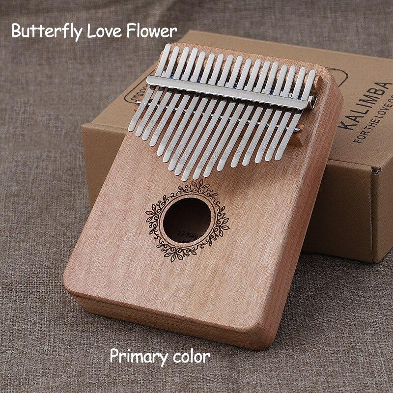 High-quality Mahogany Kalimba 17 Key Thumb Piano Bag Keyboard Beginner Musical Instrument With Free Hammer And Learning Book