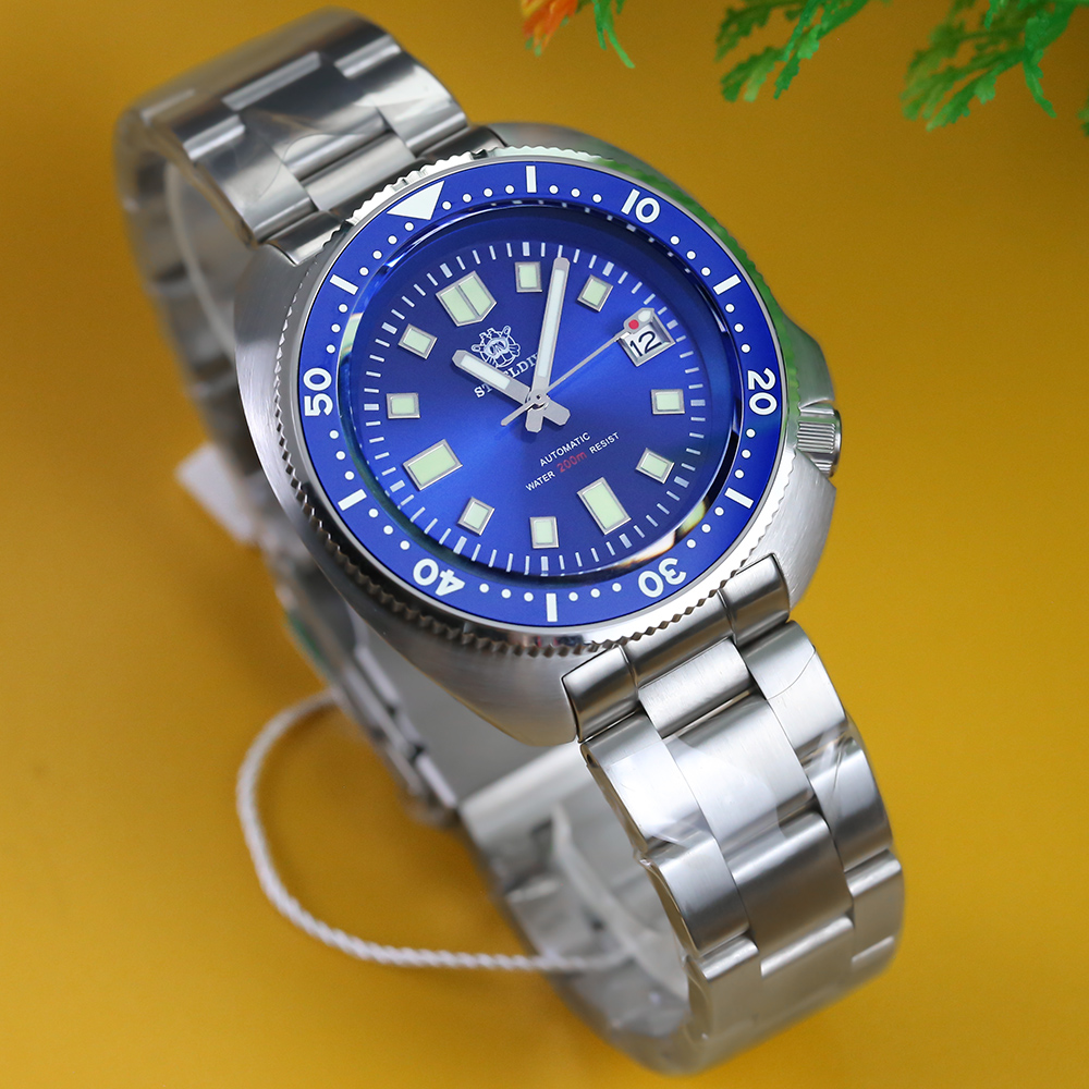 STEELDIVE 200M dive watches NH35 automatic watch men Sapphire Crystal Stainless Steel Luxury Mechanical Men's watch diver