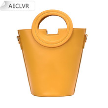 box design chinese tower print pu leather ladies bucket bag chain shoulder bag crossbody mini messenger bag for women handbag PU Mini Leather Bucket Bag For Women 2020 Casual Small Shoulder Messenger Bag Fashion Travel Acrylic chain Handbag Messenger Bag