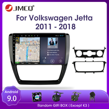 Jmcq android 9.0 para volkswagen vw sagitar jetta bora 2011-2018 rádio do carro multimidia vídeo 2 din rds gps navigaion rachado tela
