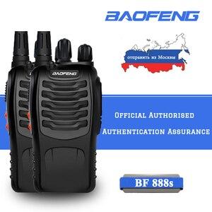 Image 1 - 2 pièces 16 canaux Baofeng BF 888S talkie walkie UHF 400 470MHz Radio bidirectionnelle Portable radioamateur émetteur récepteur Portable