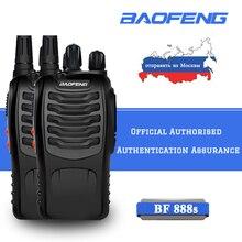 2pcs 16 canais baofeng BF 888S walkie talkie uhf 400 470 mhz rádio em dois sentidos portátil rádio presunto transceptor portátil