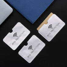 Id-Card-Holder Silver Credit Anti-Rfid Blocking-Reader Aluminium Wallet 10pcs Laser