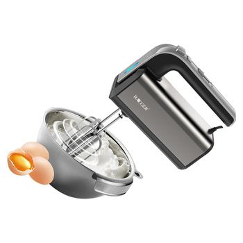 5 prędkości elektryczne miksery żywności Blender wysokiej jakości ciasta trzepaczka do jajek spirala ubijaczka rózga do kuchni gotowanie narzędzie tanie i dobre opinie HAEGER 500 w 220 v Przycisk wyrzutnik trzepak Hand held 5 speeds hand mixer STAINLESS STEEL Drut bat 28 5*19*8 HG-6664