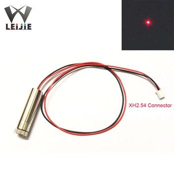 Adjustable Focusable XH2.54 650nm 250mW High Power 1245 12x45mm 3V-4.5V Red DOT Laser Module Industrial 12mm LED LD Module 650nm 250mw line adjustable focusable high power 12 45mm 3v 4 5v red laser module industrial 12mm led ld module