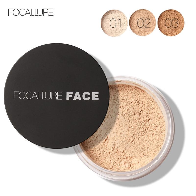 FOCALLURE Loose Powder Face Makeup Ultra-Light Perfecting Finishing Powder Translucent Mineral Powder Concealer Maquiagem