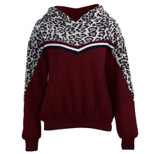 Autumn winter women sweatershirt leopard knitted pullovers long sleeve Hoodies Sweatshirt patchwork jumpers mujer for women new