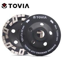 Шлифовальный круг TOVIA 125 мм, Алмазные полировальные каменные шлифовальные круги для угловой шлифовальной машины, гранит, мрамор, полироваль...