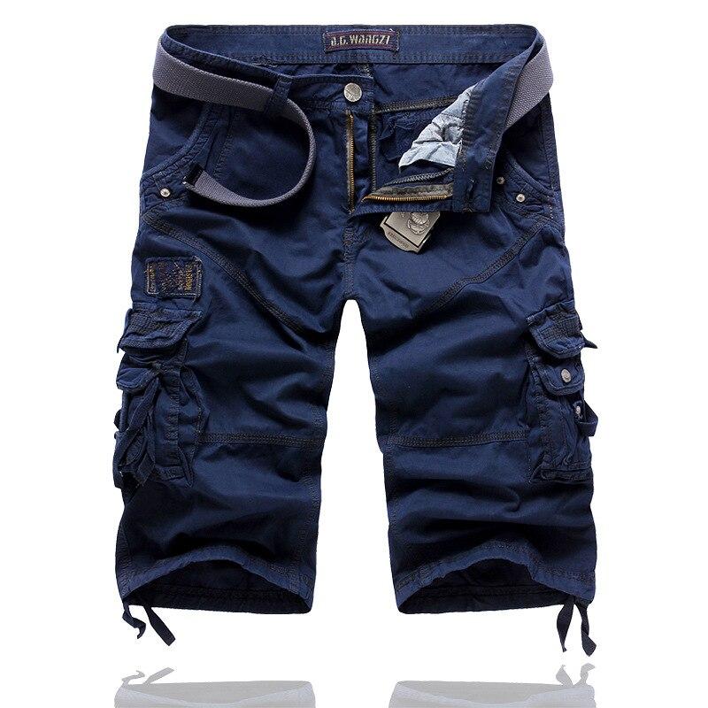 Boutique 100% Cotton Cargo Pants Korean-style Cropped Trousers For Men's Large Size Casual MEN'S Pants Slacks 5822