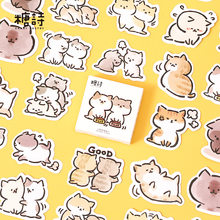 45 Pcs/box My Naughty Cats Diy Mini Paper Sticker Diary Album Scrapbooking Decoration Sticker Kawaii Stationery ​Lable