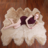 ROWNFUR Soft Artificial Sheepskin Rugs Fur Floor Shaggy Mats WoolFor Kids Living Room Bedroom Hairy Warm Plush Large Carpets