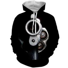 WFK new products for sale hoodie hoodies  stranger things pokemon толстовка Gun pistol pattern