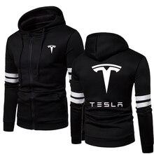 2021 Tesla New Men Winter Warm Thermal Jackets Sportswear Windbreaker Zipper Hoodies Sweatshirts Men Hooded Coats
