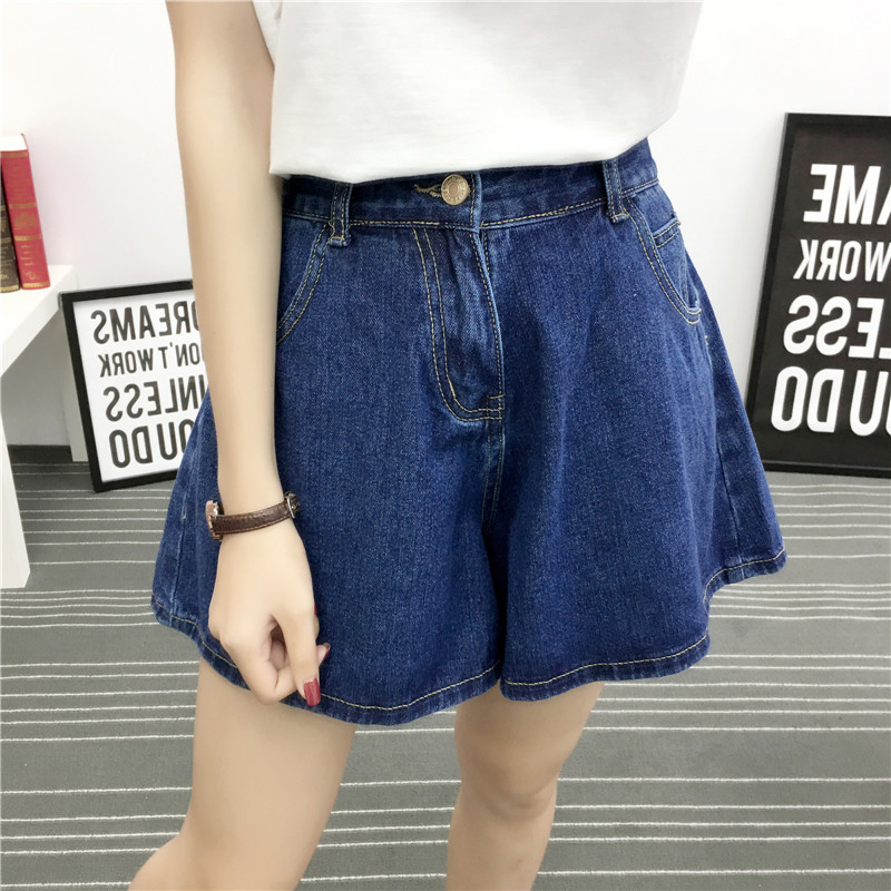 2020 Summer Women's Denim Shorts  High Waist Denim Shorts Women Casual Loose Ladies Fashion Blue Black Jeans Female