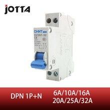 DPN 1P + N 6A 10A 16A 20A 25A 32A 63A Mini wyłącznik instalacyjny MCB do montażu na szynie din 35mm zdolność wyłączania 4.5KA
