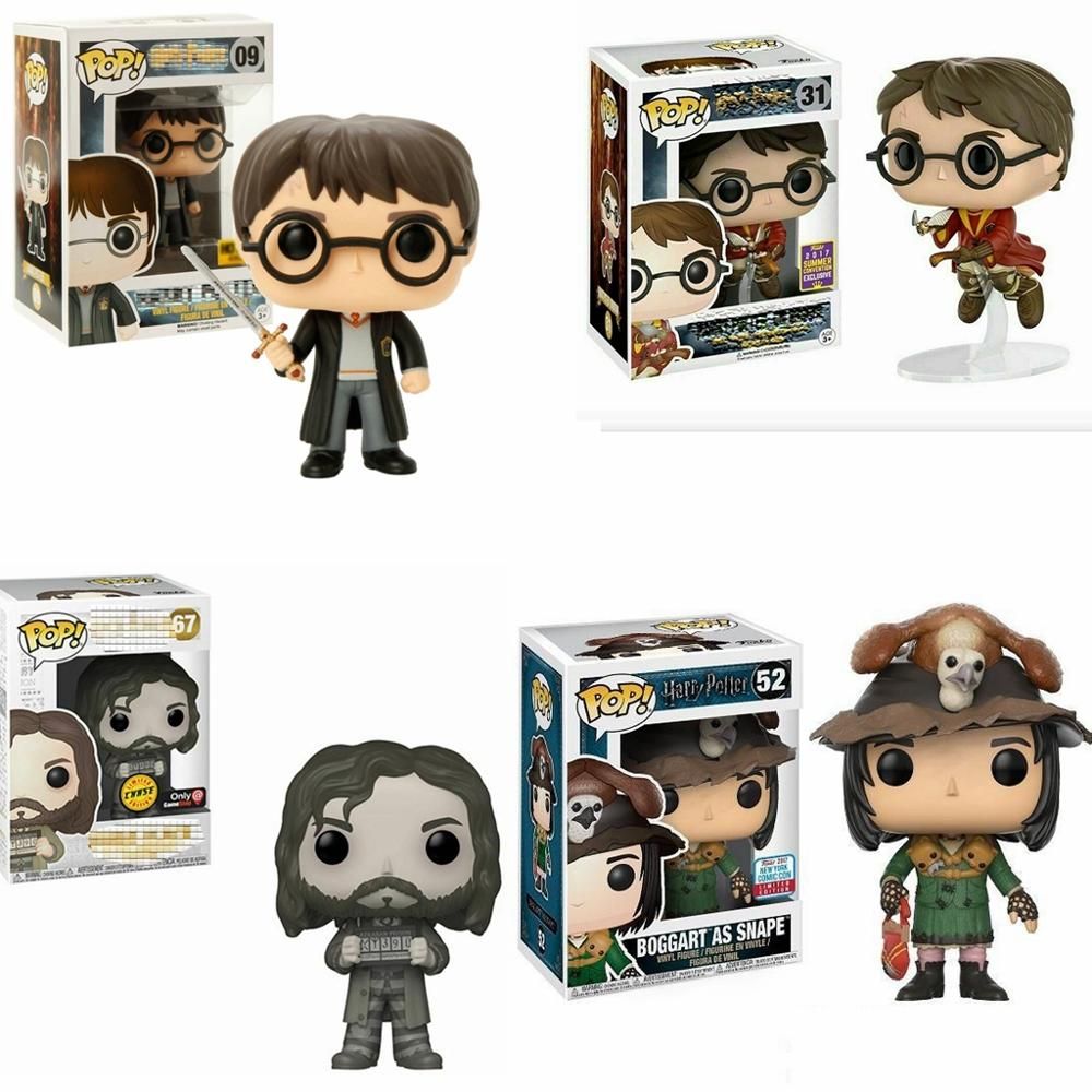 2019 Funko POP Harri Potter On Broom BOGGART AS SNAPE Sirius Black Moaning Myrtle Limited Edition Vinyl Figure Model Doll Toys