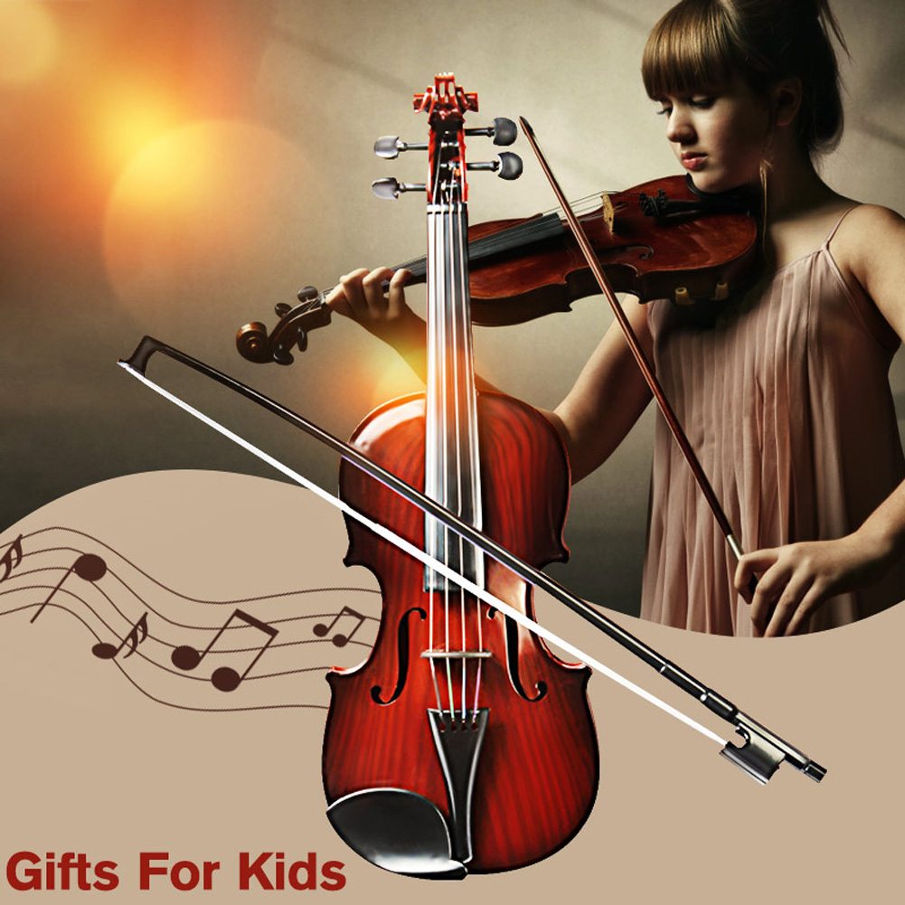 Simulation Violin Musical Toy Bow Beginner Kids Instrument Practice Color Random THIN889