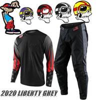2020 Motocross Combos Star Liberty Grey Dirt Bike Gear Set ATV MX full suit Off Road Motocross Jersey And Pant