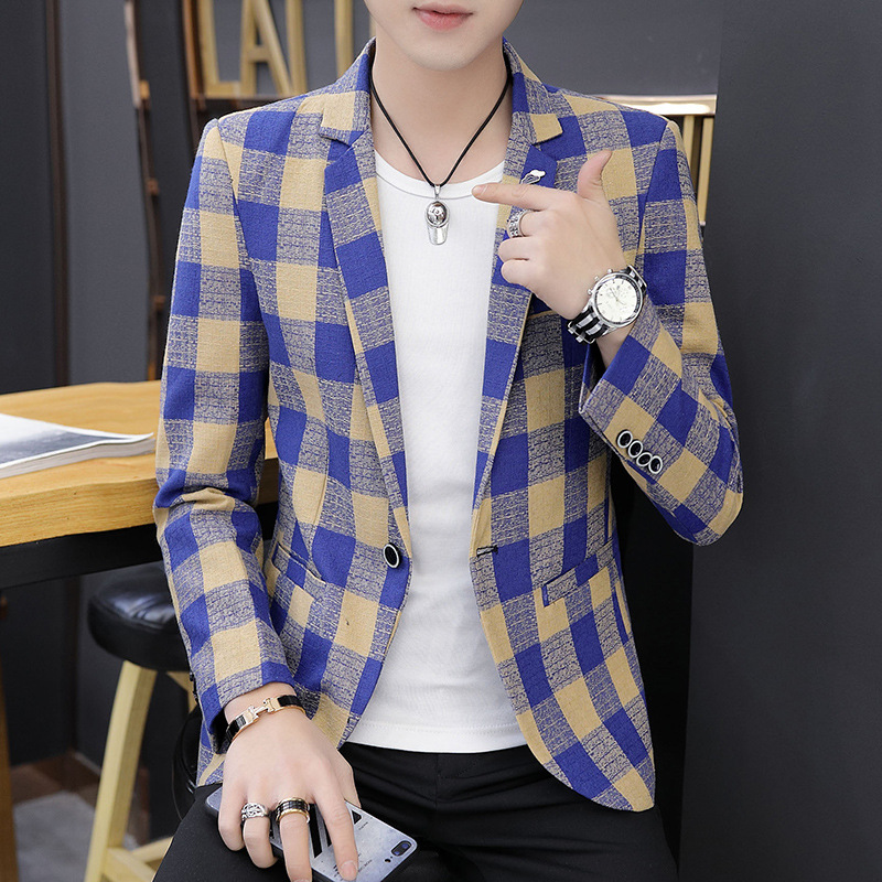 Suit Men Casual Korean-style Trend Slim Fit Single West Tops Youth Handsome Small Suit Suit Coat