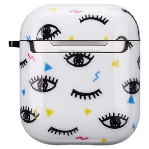 Image 2 - Cute Eyes Design For Apple AirPods Case, IMD Soft TPU Case Cover for AirPods 1&2 Convenient charging with Keychain