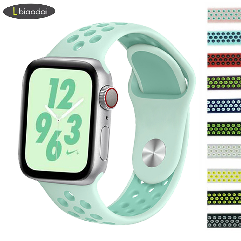 Strap for Apple watch 4 band 44mm 40mm apple watch 4/3/2/1 iwatch band 42mm 38mm sport silicone correa bracelet watchband belt strap