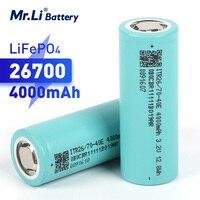Lifepo4-batería recargable de 3,2 V, 4000mAh, 26700 26650, paquete de batería de almacenamiento de energía DIY, sistema Soalr, linterna LED, EV, RV