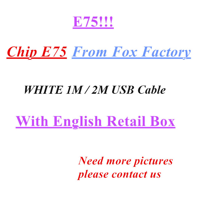 10Pcs Original 8ic 1M/3FT 2m/6FT E75 Chip USB Data Cable Charger For Fox 5 5S 6 6s 7 7plus 8 X XS With Logo Box Work New System