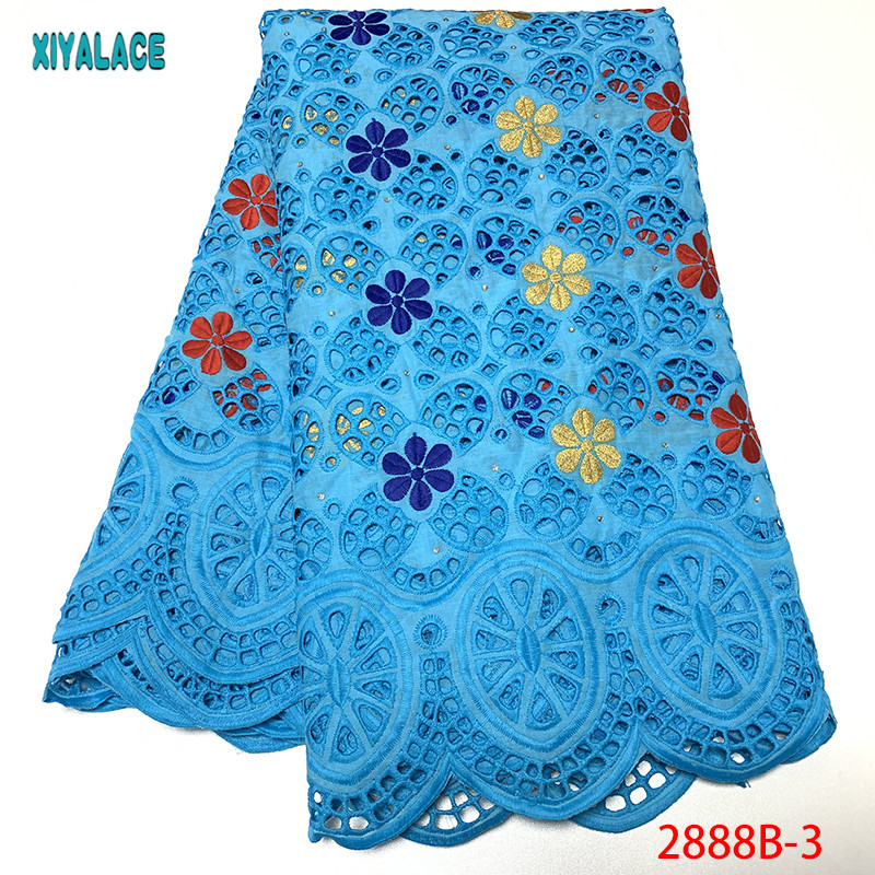 African Lace Fabric 2019 High Quality African Lace Fabric With Stones French Lace Fabric For Black Women YA2888B-1