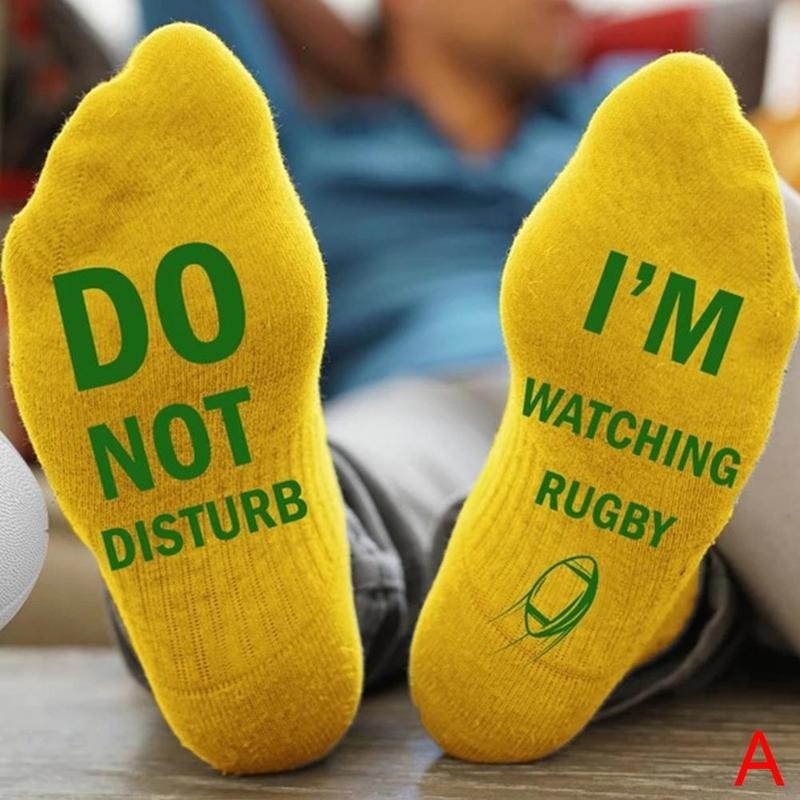 Rugby Socks Stockings Sox Funny Outdoor Sports Cotton Unisex Crew No Men Letter Do-Not-Disturb