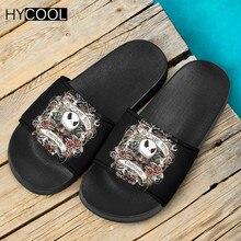 Slippers Jack Sally Christmas-Printing Shoes Sandals Slide Beach HYCOOL Home Footwear