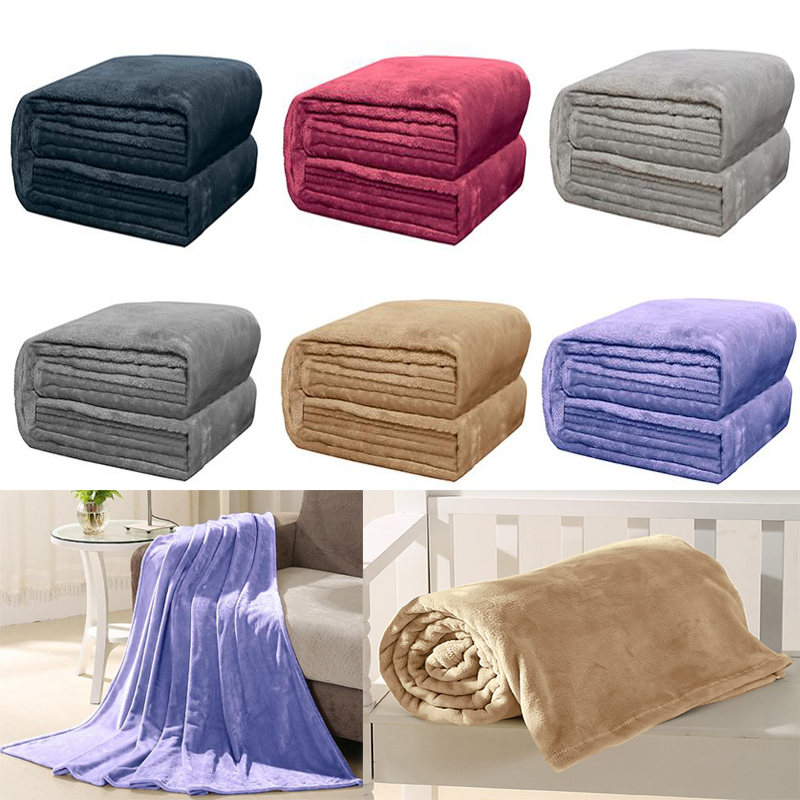 Soft Warm Flannel Blanket Autumn Winter Bedspread Coral Fleece Throw Blankets for Beds Sofa Cover Travel Airplane Blanket