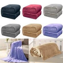 Couverture en flanelle douce et chaude, couvre-lit en molleton de corail, pour lit, canapé, voyage en avion, collection automne et hiver