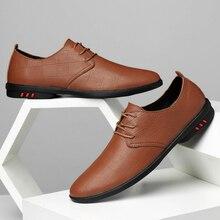 2020 обувь мужская бизнес платье итальянской тенденция свободного покроя натуральная кожа мужчины большой размер EUR36-46