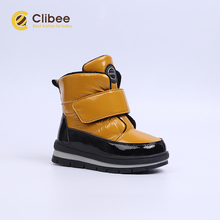 Clibee Girls Boys Winter Snow Boots Kids Warm Waterproof Anti-slip Anti-Collision Hight-Cut Outdoor Shoes Children Boots 22-27