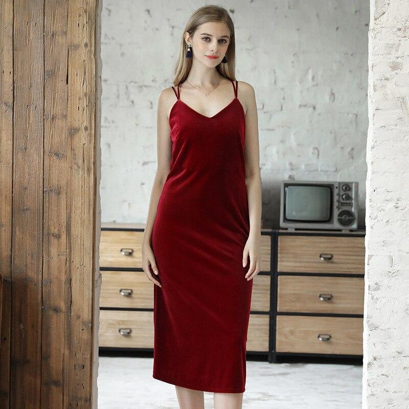 Burgundy Velvet Midi Dress Criss Cross Strappy Back Ready to Wear Spaghetti Straps Sleepwear Nightwear Slip Dress