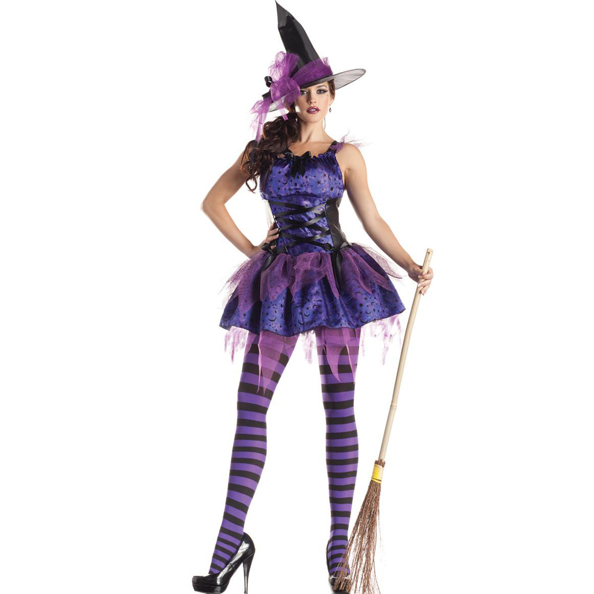 Purple-Witch Service Halloween Clothing Uniform Demon-Anime Role Clothing Witch-