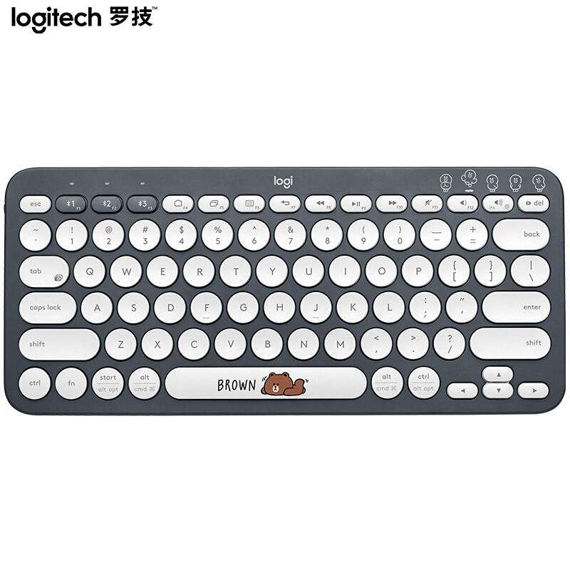 Image 3 - Logitech K380 Multi Device Bluetooth Wireless Keyboard Line Friends Pink Black Multi Colors Windows MacOS Android IOS Chrome OSKeyboards   - AliExpress