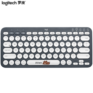 Image 3 - Logitech K380 Multi Device Bluetooth Wireless Keyboard Line Friends Pink Black Multi Colors Windows MacOS Android IOS Chrome OS