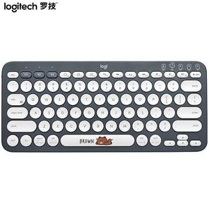 Image 3 - Logitech K380 Đa Thiết Bị Bàn Phím Không Dây Bluetooth Dòng Bạn Bè Hồng Đen Nhiều Màu Sắc Windows MacOS Android IOS Chrome OS
