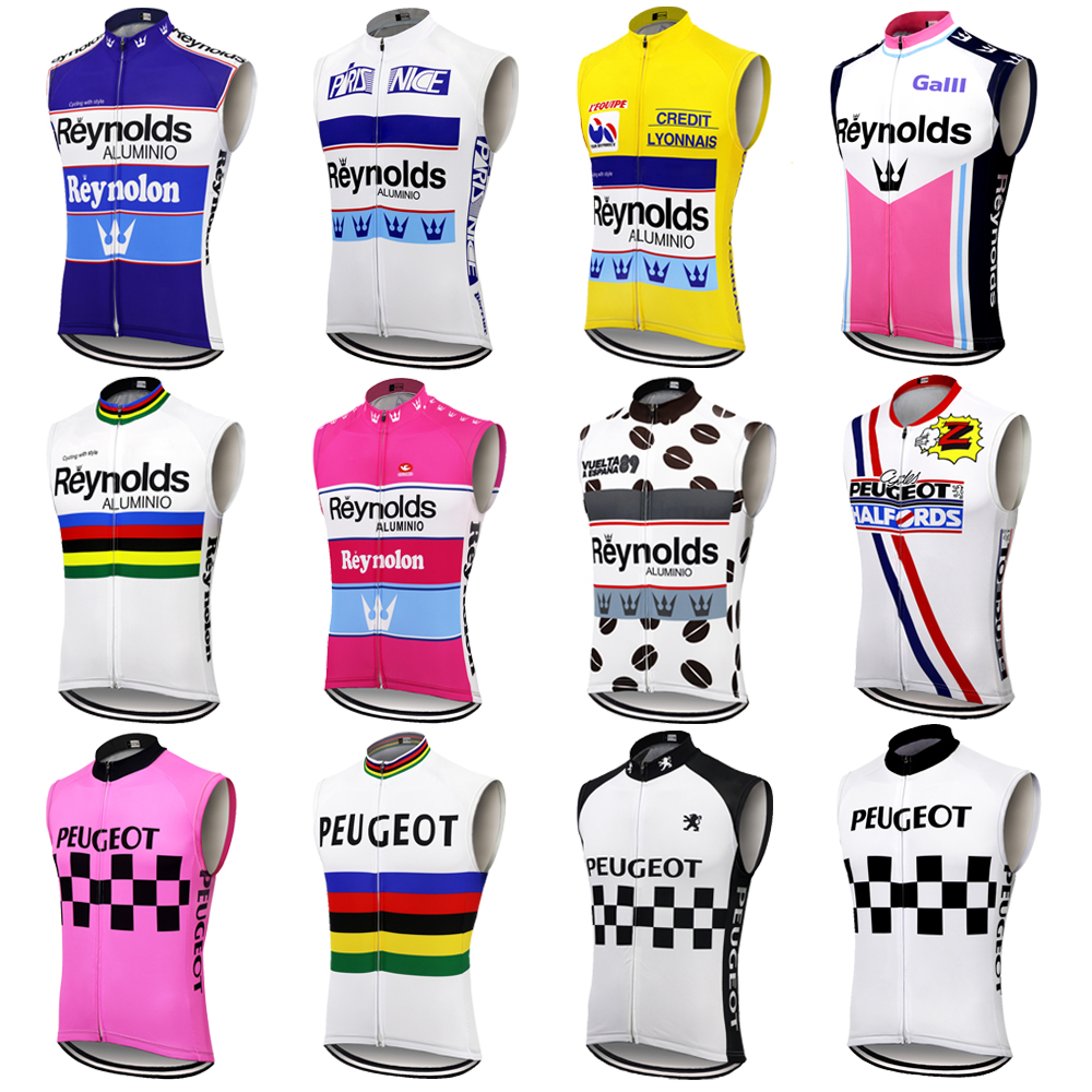 Multi Style Reynolds Cycling Vest Men Team Classic Bike Clothing Summer Sleeveless Bicycle Clothing Ciclismo MTB Vest Clothing