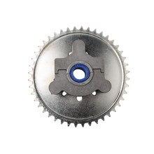 44 t roda dentada adaptador apto 1.5 polegada 1 1/2 polegada 415 corrente 49cc 50cc 66cc 80cc 2 tempos motorizada bicicleta substituição durável estável