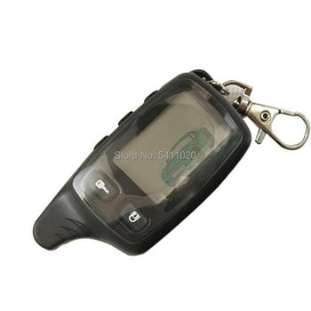 10 PCS/lot TW9010 LCD Remote Control Key Chain For Russian Tomahawk Tw-9010 Two way car alarm system Tomahawk TW 9010 keychain